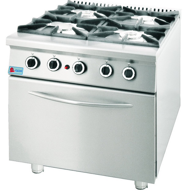 Four Open Flames With Oven-GGC-921V